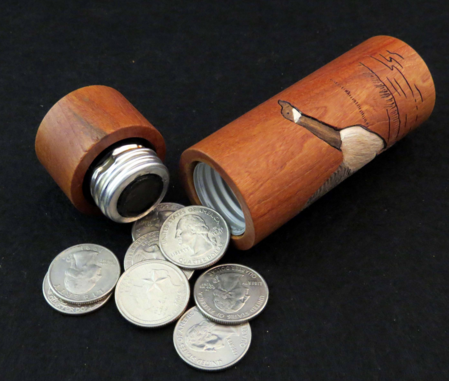 Custom Wood Coin Holders Personalize Unique Coin Holder